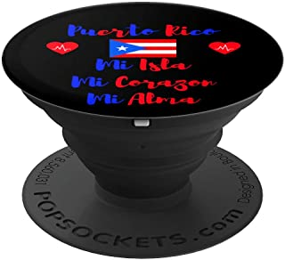 Puerto Rico Flag Mi Isla Corazon Alma Heart Rican Women Girl - PopSockets Grip and Stand