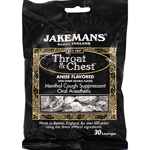 Jakemans Lozenge - Throat and Chest - Licorice - Free from Harsh Chemicals - 30 Count (Pack of 2)