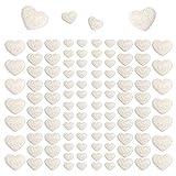 Oblique Unique® 106 Herz Aufkleber mit Glitzer Effekt in Weiß Herzen Sticker für Scrapbooking...