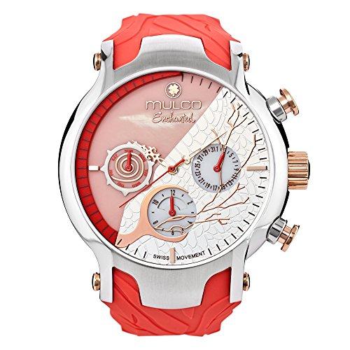 Reloj Mulco MW5-3812-633 Mujer Rosa Silicona Multifunción