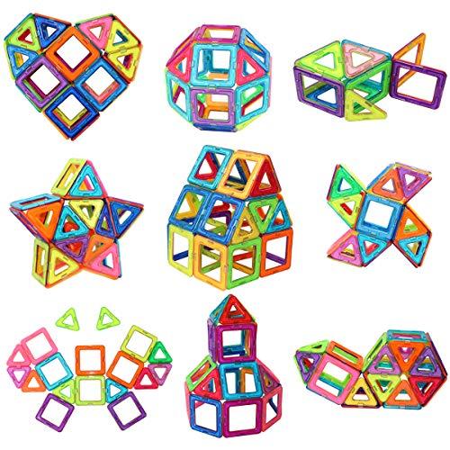 Magnetic Tiles Building Blocks Toys, 40 Pcs Preschool Kids Educational Construction Toys Sets