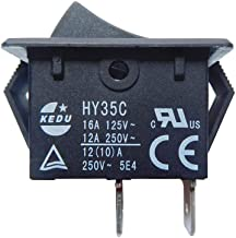 KEDU HY35C Push Button Switch Rocker Switches for Household Electrical Appliances and Equipment 125V/16A 250V/12A CE UL TU...