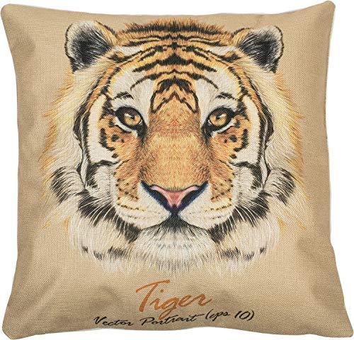 Puccybell Kussensloop met dierenprint digitale print Tiger voor kussens 45 x 45 cm KB001 (tijger)