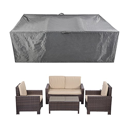 CKCLUU 88″ x 58″ x 28″ Outdoor Patio Furniture Set Covers Waterproof Heavy Duty Durable