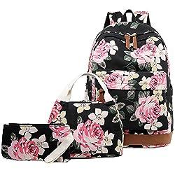 cheap Abshoo Flower Girls Backpack Canvas School Book Bag A teenage girl backpack and lunch bag …