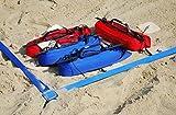 competizione kit linee di campo beach volley 16x8m x 5cm ufficiale segnalettica deliminatori di beachvolley (blu)