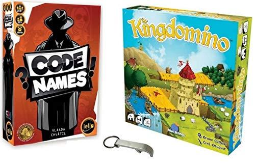 Lot de 2 Jeux VF: Code Names + Kingdomino + 1 Décapsuleur Blumie