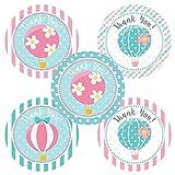 Adorebynat Party Decorations - EU Globo de aire caliente le agradece etiqueta engomada - Cumpleaños Baby Shower Fiesta de la etiqueta engomada - Set 30