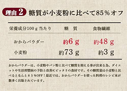 おからパウダー100g(微粒子パウダータイプ)九州産大豆使用福岡有名豆腐店『鳥飼豆腐』(1袋)