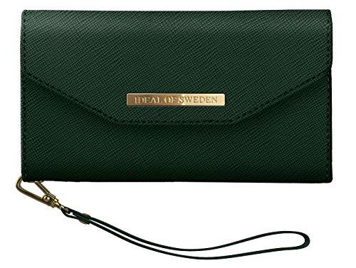 IDEAL OF SWEDEN Mayfair Handytaschen Clutch für iPhone 11 Pro (Saffiano Vegan Leather) (Planboksfodral) (Green)