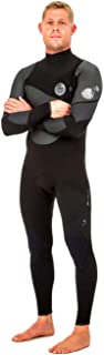 Rip Curl Flashbomb Heatseeker 3/2MM Zip Free Wetsuit Black with Lightweight Easy Stretch Thermal Flash Lining