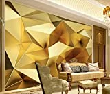 Papel Pintado 3D Polígono Geométrico Dorado De Fotomurale 3D Tv Telón De Fondo Pared Decorativos Murales
