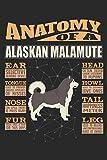 Anatomy Of A Alaskan Malamute: Anatomy Of A Alaskan Malamute Notebook Journal 6x9 Personalized Customized Gift For Alaskan Malamute Mom Dad Lined Paper