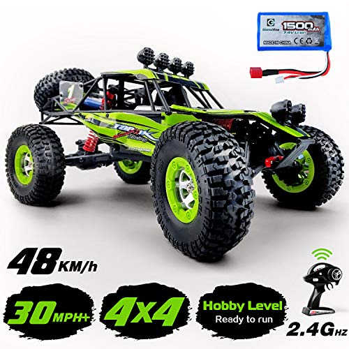 Gizmovine RTR Hobby Rc Cars 1:12 Scale Large Remote Control Car 2.4G 4WD High Speed 30 MPH+ Rc Trucks 4x4 Off Road Waterproof Toys (Hobby RC Car)