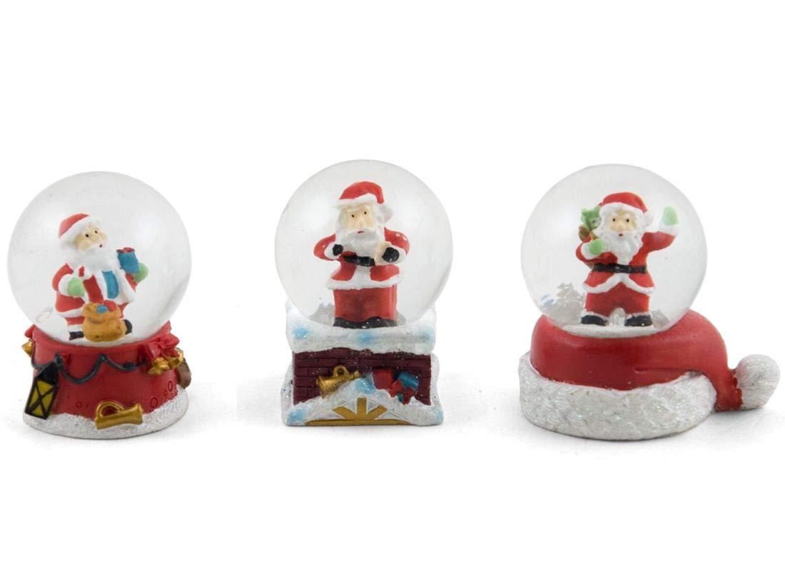 Juego de 2 bolas de nieve con purpurina decoraci/ón tradicional de Navidad elfos en su interior y el texto /«Merry Christmas/»