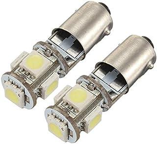 nicebuty–Juego de 2Bombilla 5LED 5050SMD BA9S H6W T4W anti sin ODB lámpara