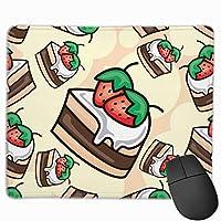 漫画のおいしいケーキパターン マウスパッド ノンスリップ 防水 高級感 習慣 パターン印刷 ゲーミング ホビー 事務 おしゃれ 学習