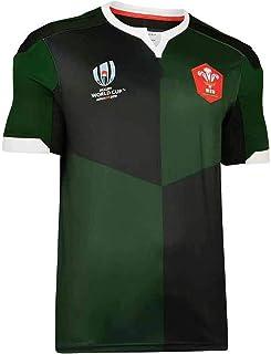 ラグビージャージー2019ラグビージャージーウェールズワールドカップアウェイラグビージャージーS-3XL-緑_XXL
