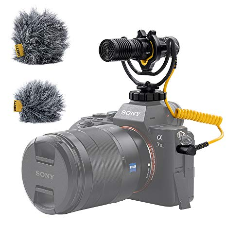 Deity V Mic D4 Duo Microfoni Microfono a doppia capsula per montaggio su videocamera, doppio pattern di ripresa cardioide, Plug and Play, con supporto ammortizzatore Rycote Lyre per DSLR, videocamere