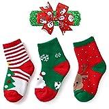 YEAPOOK Girls Boys Christmas Socks Baby Toddler Kids Children Thicken Warm Holiday Socks