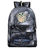 Mochila YODA, mochila de estudiante Yoda Mandalorian, mochila escolar, mochila para computadora portátil para niños y niñas, mochila de ocio (estilo 1)