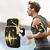 KIOKIOIPO-N Universal 6.2 inch or Under Phone Zipper Double Bag Multi-Functional Sport Arm Case with Earphone Hole for iPhone, Samsung, Sony, Huawei, Meizu, Lenovo, ASUS, Oneplus,Ulefone, Letv, DOOG