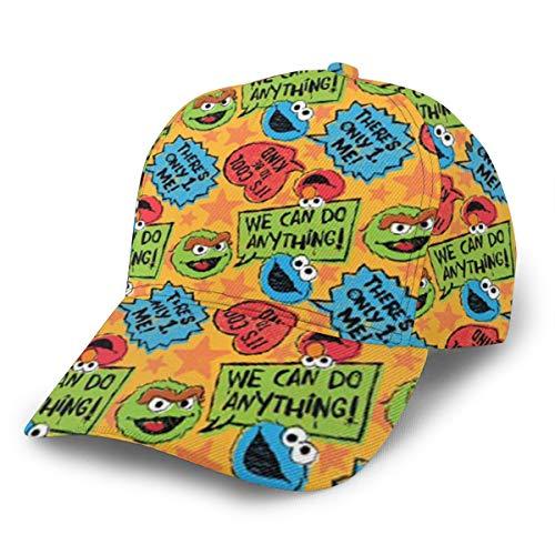 LeoBird Elmo's World Monster Full Printed Adjustable Curved Brim Hat Racing Baseball Hats for Adult Black