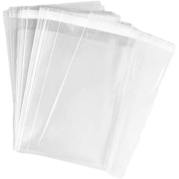 """100Pcs Clear Cellophane Gift Bags Large 10x7/"""" Peel Seal for Garment Clothing"""