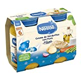 Nestlé Purés Pijama, Tarrito de puré de verduras y carne, variedad Crema de verduritas con Pavo, para bebés a partir de 6 meses - Tarritos 2 x 200 gr