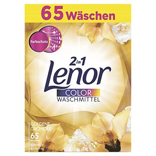Lenor Colorwaschmittel Pulver Goldene Orchidee, 4kg, 1er Pack (1 x 65 Waschladungen)