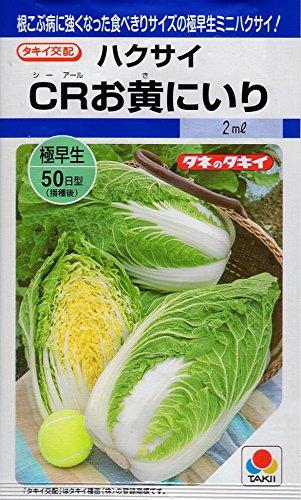 【種子】 ミニハクサイ(白菜) CRお黄にいり タキイ種苗のタネ