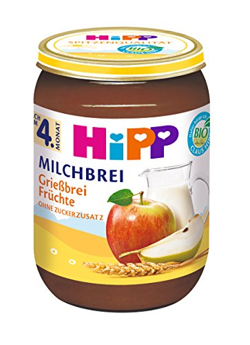 HiPP Grießbrei Früchte, 12er Pack (12 x 190 g)