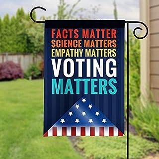 "Garden Flag Decoration for Outdoor Facts Matter, Science Matters, Voting Mattershome Decorative Flag 28"" X 40"""