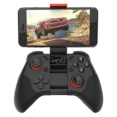 Wireless Bluetooth Games controller with Joystick for VR Glasses, built-in Holder for Smartphones, Compatible with almost Computers from the High Quality Brand Shinecon - C07