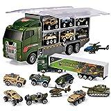 JOYIN 10 en 1 Camion Militaire Moulé sous Pression Véhicule de l'Armée Véhicule de Combat Mini Jouet Ensemble dans Un Camion Porteur