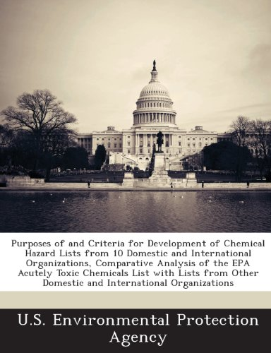 Purposes of and Criteria for Development of Chemical Hazard Lists from 10 Domestic and International Organizations, Comparative Analysis of the EPA AC