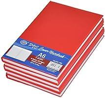 5 دفاتر من اف اي اس مع غطاء من مادة بلاستيك بي في سي فيه 96 ورقة و192 صفحة بقياس ايه 6 وخط مفرد- لون احمر-FSNBA62QPVCRE
