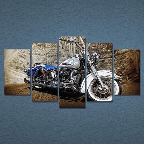 Sanzx 5 Malerei, High Definition, schöne Motorrad-Plakate auf Leinwand im Schlafzimmer, dekoriert, modern, Wohnzimmer, 30 x 40 x 2 30 x 80 cm, ohne Rahmen