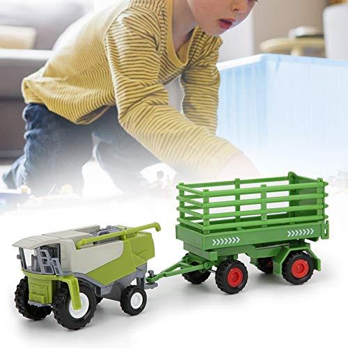 Tractores agrícolas Modelo de Coche de 23 cm, Modelo de vehículo Niños interesantes para niños, Remolque basculante(Farmer Fence Trailer)