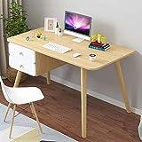 CuteLife Computer Office Desk Desk Simple Desktop Computer Desk Student Simple Solid Wood Leg Desk...