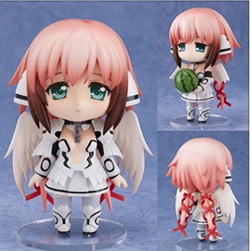 Anime Figure 10cm Q Version Sora No Otoshimono Icarus/Ikaros 178# PVC Action Figures Toys Movable Change Face Anime Model Doll