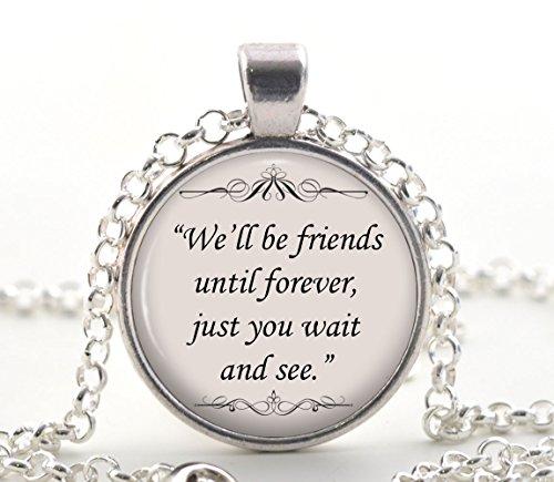 Winnie The Pooh Halskette, Freunde für immer Zitat Anhänger, Freundschaft Schmuck Geschenkideen für Frauen & beste Freunde