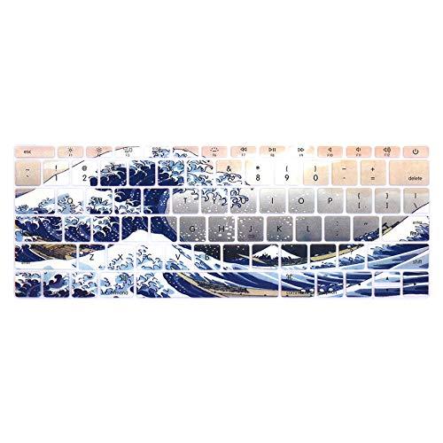 US-Ente cubierta del teclado del ordenador portátil 12 pro13 sin touchbarSilicone película protectora del teclado para A1534 A1931 A1708 A1988-F