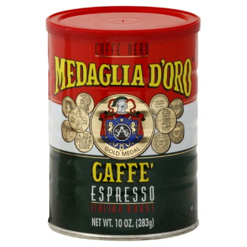 Medaglia D Oro Caffe Espresso, Ground, 10-Ounce Cans (Pack of 4)