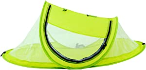 Mtef Portable Baby Beach Tent Pop Bed Lightweight Travel Crib Bed Outdoor Backpacking Tent Sun Shelter Mosquito Net for Infant Yellow