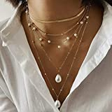AMOZ Womens Necklaces Amp, Pendants, Retro Metal Multilayer Rice Beads Pearl Necklace Ladies Jewelry, Jewelry Amp, Watches for Christmas Valentine s Day Fashion