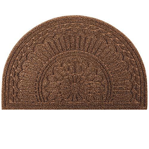 MIBAO Half Round Doormat, 24 x 36 Non Slip Durable Welcome Door Mats, Boots Scraper Mats Indoor...
