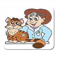 ファッションが流行するマウスパッド医者猫獣医獣医職業医療漫画ペットファッションが流行するマウスパッドノートブック用、デスクトップコンピューターマウスマット、オフィス用品