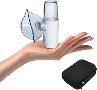 Mini Travel Nebulizer Machine Kit with Carrying Case for Kids and Adults, Portable Steam Handheld Inhaler