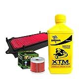 Kit tagliando Bardahl XTM 10W40 filtro olio aria S i x t e e n 125/150